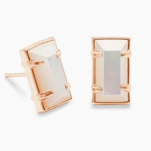 KENDRA SCOTT Paola stud earrings Rose Gold